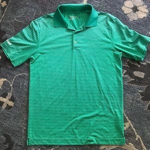 516cf3c1 Nike Shirts   Green Golf Drifit Mens Shirt Striped Sz Sm   Poshmark